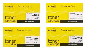 Tonery BROTHER TN-423 CMYK (TN423) komplet LAMBDA